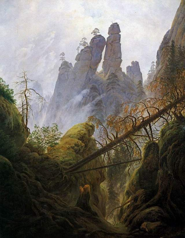 Caspar David Friedrich - The Rocky Scenery at the mountains of the Elbe